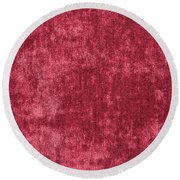 Red Velvet Round Beach Towel