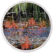 Reflecting Fall Round Beach Towel