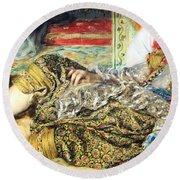 Renoir's Odalisque Round Beach Towel