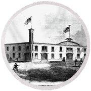 Republican Convention, 1860 Round Beach Towel