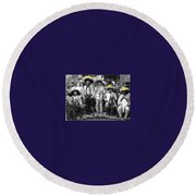 Revolutionary Soldiers Unknown  Mexico Location 1914-2014 Round Beach Towel