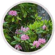 Rhododendron Round Beach Towel
