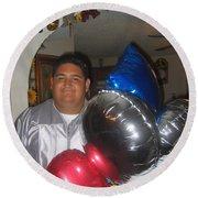 Ricardo Celebrating His High School Graduation Eloy Arizona 2002 Round Beach Towel