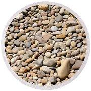 River Rocks Pebbles Round Beach Towel