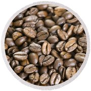 Roasted Coffee Beans Round Beach Towel
