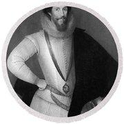 Robert Devereux (1566-1601) Round Beach Towel