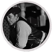 Robert Mitchum Young Billy Young Old Tucson Arizona 1968-2009 Round Beach Towel