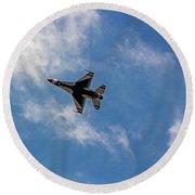 Rochester Air Show Thunderbirds Round Beach Towel