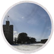 Rochester Castle Round Beach Towel