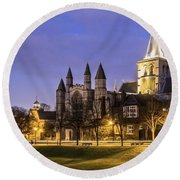 Rochester Cathedral Round Beach Towel