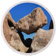 Rock Formation - Joshua Tree National Park Round Beach Towel