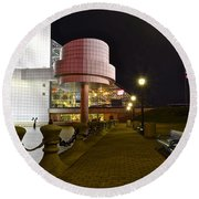 Rock N Roll Hall Of Fame Round Beach Towel by Frozen in Time Fine Art Photography