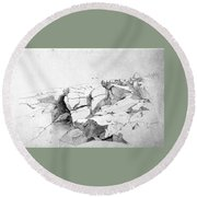 Rocks At Narragansett Round Beach Towel