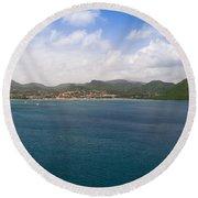 Rodney Bay St. Lucia Round Beach Towel