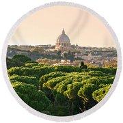 Rome - Italy Round Beach Towel