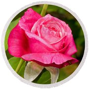 Rose Flower Round Beach Towel