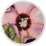 Rose Of Sharon Round Beach Towel