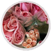 Roses For Sale Round Beach Towel