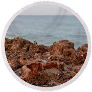 Ross Witham Beach Hutchinson Island Martin County Florida Round Beach Towel