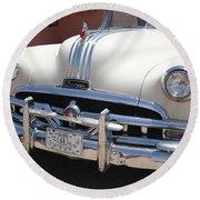 Route 66 - Classic Car Round Beach Towel