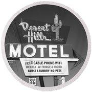 Route 66 - Desert Hills Motel Round Beach Towel