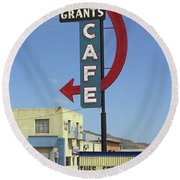 Route 66 - Grants Cafe Round Beach Towel