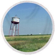 Route 66 - Leaning Water Tower Round Beach Towel