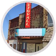 Route 66 - Stovall Theater Round Beach Towel