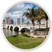 Royal Park Bridge Round Beach Towel