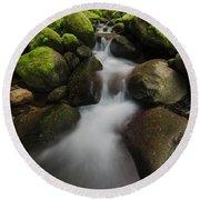 Ruckel Creek  Oregon, United States Round Beach Towel