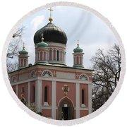 Russian Church Round Beach Towel