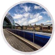 Sage Gateshead And Newcastle Skyline Round Beach Towel
