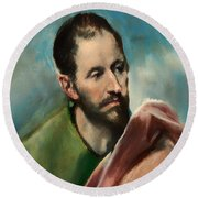 Saint James The Younger Round Beach Towel