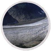 Salmon Glacier Round Beach Towel