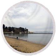 San Francisco Maritime National Historical Park Round Beach Towel