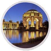 San Francisco Palace Of Fine Arts Theatre Round Beach Towel