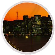 San Franscisco Ca Round Beach Towel