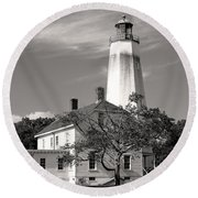 Sandy's Mark Bw Round Beach Towel