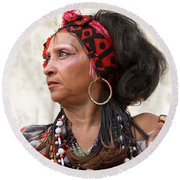 Santeria Woman Round Beach Towel