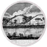 Saratoga: Encampment, 1777 Round Beach Towel