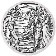 Satan & Sorcerer, 1626 Round Beach Towel
