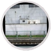 Scene From A Train In Chinas Southern Round Beach Towel