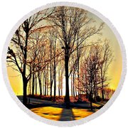 Scenic Sunset Round Beach Towel