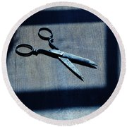 Scissors Round Beach Towel