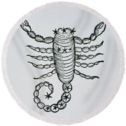 Scorpio Round Beach Towel