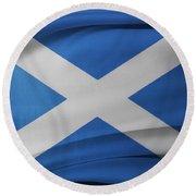 Scottish Flag Round Beach Towel