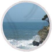 Sea Coast Round Beach Towel