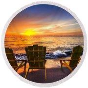Sea Dreams II Round Beach Towel
