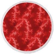 Seamless Fractal Red Round Beach Towel