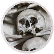 Sedlec Ossuary - Charnel-house Round Beach Towel